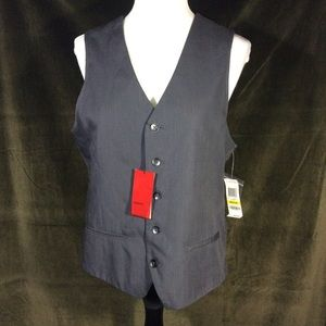 Alfa I dark gray button up vest NWT